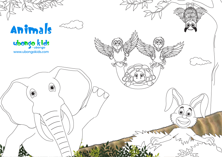 Coloring Sheet Animals