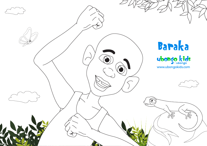 Coloring Sheet Baraka