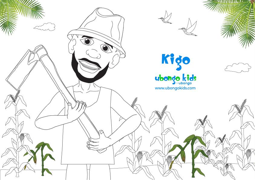 Coloring Sheet Mzee Kigo