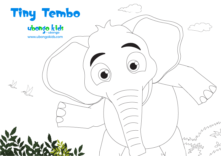 Coloring Sheet Tiny Tembo